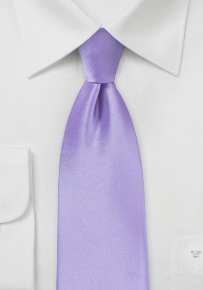 XL Length Lavender Hued Tie for Boys