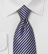 Dark Navy Tie with Textured Stripes
