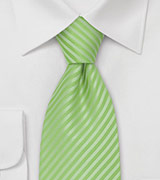 Striped Tie in Fresh Lime