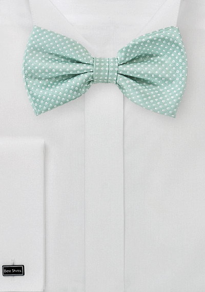 Men\'s Bow Tie in Mint Green
