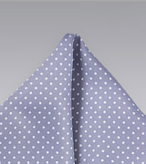 Pin Dot Pocket Square in Lilac