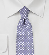 Pin Dot Tie in Lilac Purple in Skinny Cut