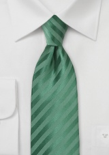 Pine Green Hued Kids Tie with Subtle Stripes