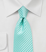 Spearmint Hued Mens Tie in XL Size