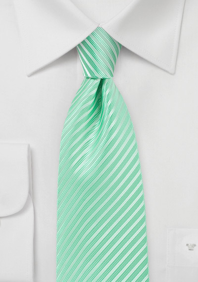 Opal Green Extra Long Tie