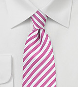 Berry Pink Striped Necktie