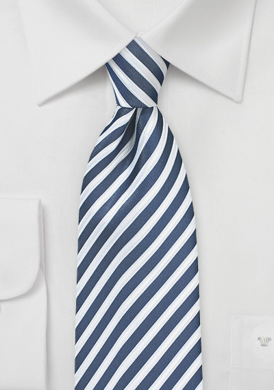 Dark Indigo Blue Striped Tie