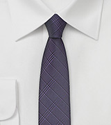 Super Skinny Tie in Grape Purple