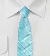 Skinny Mens Tie in Radiant Blue