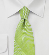 Trendy Plaid Tie in Daiquiri Green