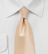 Extra Long Necktie in Peach Cobbler