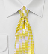 Textured Weave Tie in Lemon Yellow