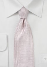 Extra Long Textured Necktie in Blush