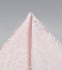 Blush Pink Paisley Pocket Square