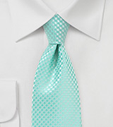 Check Design XL Tie in Pool Blue