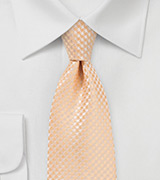 Extra Long Necktie in Soft Summer Peach