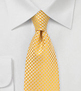 Dandelion Colored Tie in XL Length