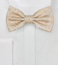 Champaign Wedding Paisley Bow Tie