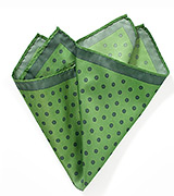 Green Pocket Square with Large Dots