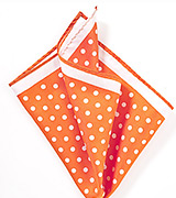 Bright Orange Polka Dot Hanky