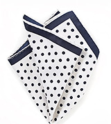White and Navy Blue Pocket Square