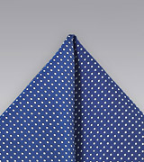 Pin Dot Pocket Square in Royal Blue