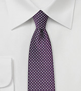 Eggplant Purple Pin Dot Tie