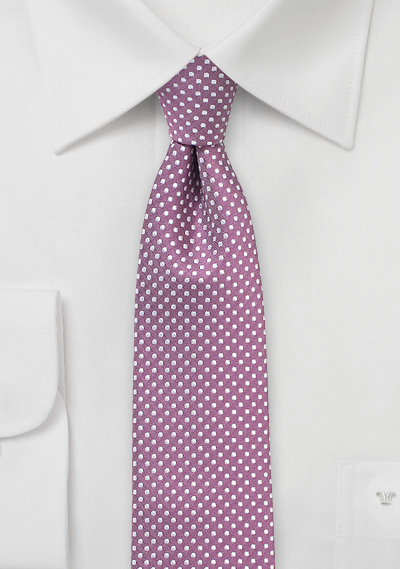 Pin Dot Tie in Raspberry