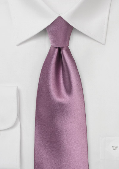 Purple Rose Tie in XL Length