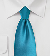 Peacock Colored Extra Long Tie