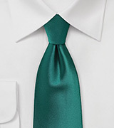 Mens Tie in Everglade Green