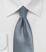 Classic Gray Extra Long Tie