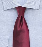 Wine Red Colored Necktie