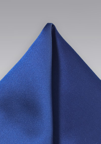 Royal Blue Colored Pocket Square