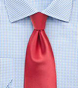 Coral Red Necktie