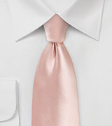 Solid Color Tie in Peach Blush