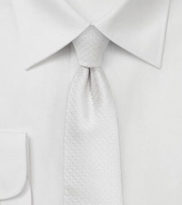Pin Dot Tie in Formal Ivory
