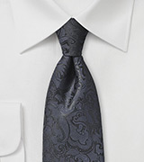 Midnight Blue Paisley Necktie