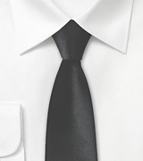 Sleek Black Skinny Tie