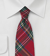 Scottish Tartan Plaid Skinny Tie