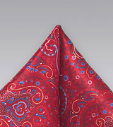 Luxurious Silk Pocket Square in Red