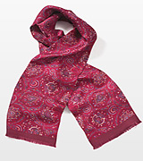Contemporary Paisley Scarf in Vibrant Reds