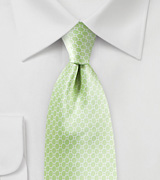 Pastel Green Satin Silk Tie