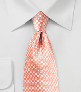 Tropical Peach Satin Silk Tie