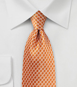Harvest Pumpkin Orange Satin Silk Tie