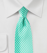 Satin Silk Tie in Aqua Blue