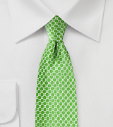 Designer Silk Tie in Kelly Green