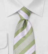 Lime green neckties Modern striped green tie