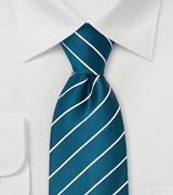 Extra Long Ties Turquoise Blue XL Necktie