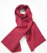 Mens Geometric Scarf in Crimson